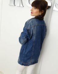 długa kurtka jeansowa